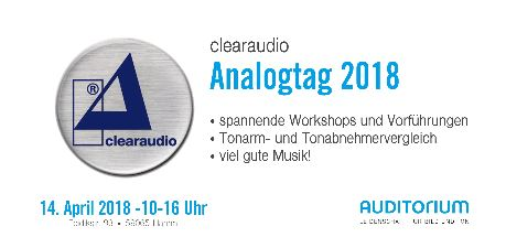 Clearaudio Analogtag 2018 mit Auditorium