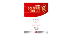 2nd place - award Goldenes Ohr 2018 Audio
