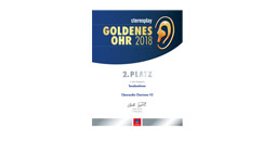 2nd place - award Goldenes Ohr 2018 stereoplay