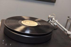 Vinyl on pin